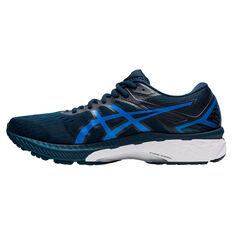 Asics GT 2000 9 2E Mens Running Shoes Black/Blue US 7, Black/Blue, rebel_hi-res