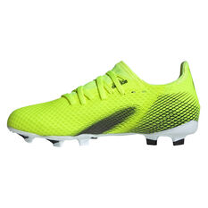 adidas X Ghosted .3 Kids Football Boots Yellow US 11, Yellow, rebel_hi-res