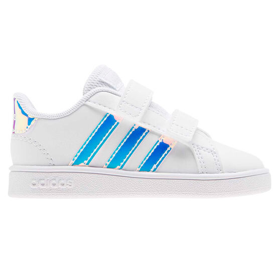 adidas Grand Court Toddlers Shoes, White, rebel_hi-res
