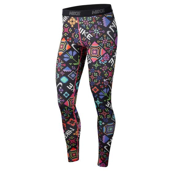 Nike Womens Victory Hyper Flora Training Tights Print XS, Print, rebel_hi-res