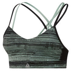 Reebok Womens Hero Strappy Padded Sports Bra Green XS, Green, rebel_hi-res