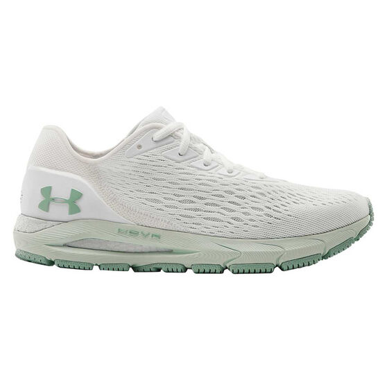 Under Armour HOVR Sonic 3 Womens Running Shoes, White/Blue, rebel_hi-res