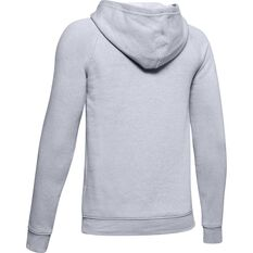 Under Armour Boys Rival Logo Hoodie Grey / White XS, Grey / White, rebel_hi-res