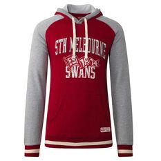 Sydney Swans Mens Collegiate Pullover Hoodie Red S, Red, rebel_hi-res