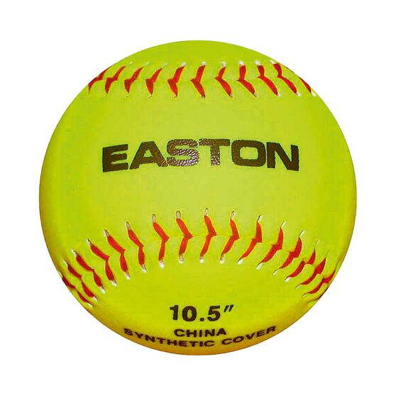 Easton 10.5in STB Neon Soft Training Softball Ball Fluro Yellow, , rebel_hi-res