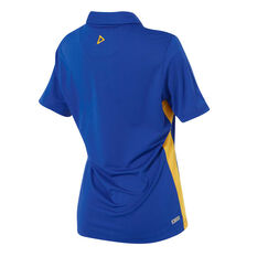 West Coast Eagles 2019 Womens Player Polo Blue / Yellow 10, Blue / Yellow, rebel_hi-res