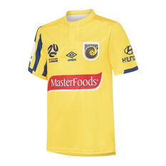 Central Coast Mariners 2019/20 Kids Home Jersey Gold 8, Gold, rebel_hi-res