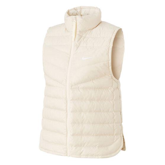 Nike Womens Lightweight Down Windrunner Vest, White, rebel_hi-res
