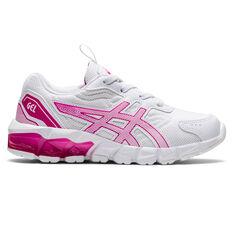 Asics GEL Quantum 90 2 Kids Casual Shoes White/Pink US 11, White/Pink, rebel_hi-res