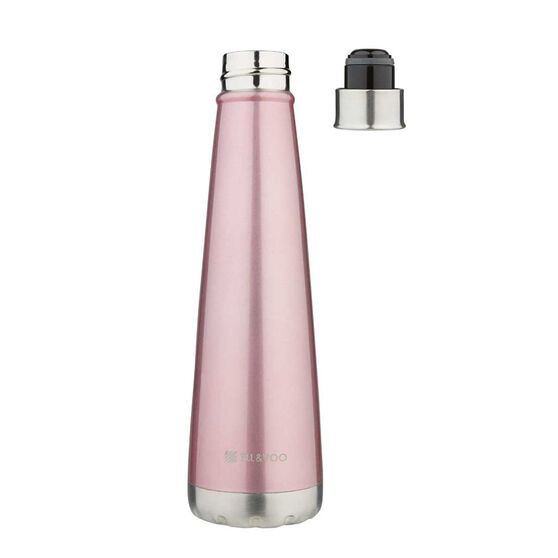 Ell & Voo Aria 430ml Insulated Drink Bottle Pink, Pink, rebel_hi-res
