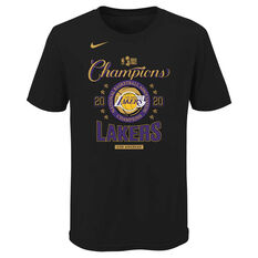 Los Angeles Lakers 2020 Kids Champs Tee Black S, Black, rebel_hi-res