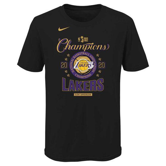 Los Angeles Lakers 2020 Kids Champs Tee, Black, rebel_hi-res