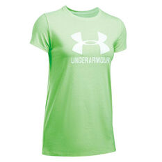 Under Armour Womens Sportstyle Crew Tee Lime XS Adult, Lime, rebel_hi-res