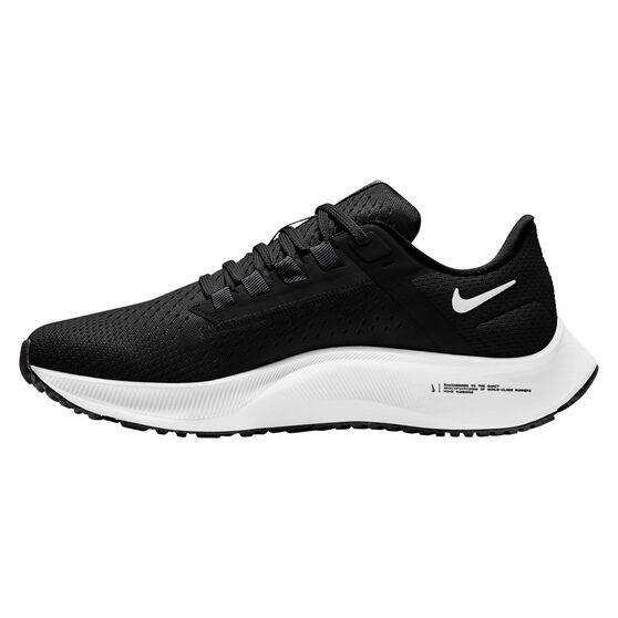 Nike Air Zoom Pegasus 38 Womens Running Shoes, Black/White, rebel_hi-res