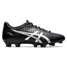 Asics Menace 4 Football Boots Black/Silver US Mens 7 / Womens 8.5, Black/Silver, rebel_hi-res