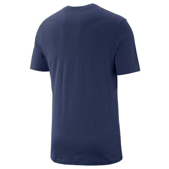 Nike Mens Sportswear Club V Neck Tee, Navy, rebel_hi-res