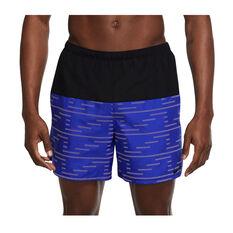 Nike Challenger Mens Dri-FIT Brief-Lined Running Shorts Blue S, Blue, rebel_hi-res