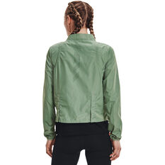 Under Armour Womens Run Anywhere Laser Jacket Green XS, Green, rebel_hi-res