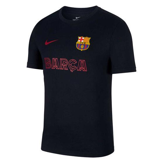 FC Barcelona 2019/20 Mens Core Match Tee, Navy, rebel_hi-res