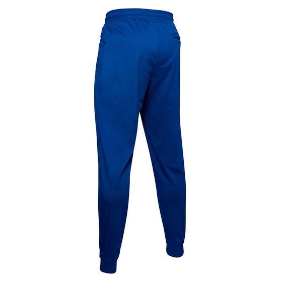 Under Armour Mens Sportstyle Tricot Jogger Pants, Blue, rebel_hi-res
