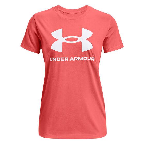 Under Armour Womens Sportstyle Graphic Tee, Orange, rebel_hi-res