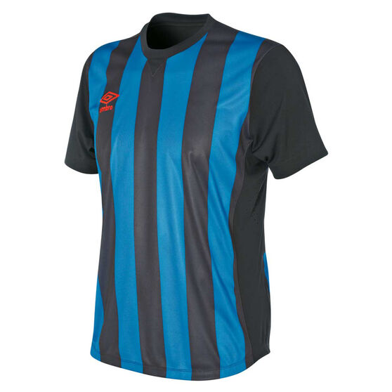 Umbro Mens Striped Jersey, Royal Blue / Black, rebel_hi-res