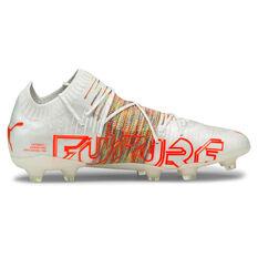 Puma Future Z 1.1 Football Boots White US Mens 7 / Womens 8.5, White, rebel_hi-res