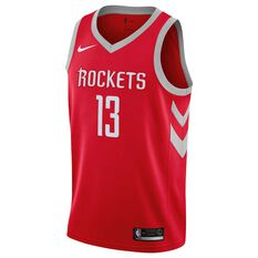 Nike Houston Rockets James Harden 2019 Swingman Jersey University Red S, University Red, rebel_hi-res