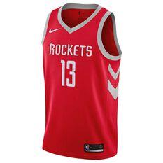Nike Houston Rockets James Harden 2019 Swingman Jersey University Red S, University Red, rebel_hi-res