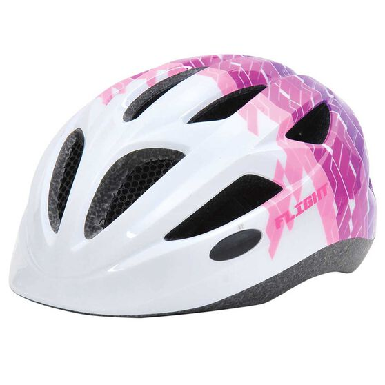 Flight Toddler Bike Helmet White / Pink 51 to 55cm, , rebel_hi-res