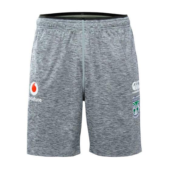 Warriors 2019 Mens Gym Shorts, Grey, rebel_hi-res