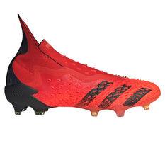 adidas Predator Freak + Football Boots Red/Black US Mens 7 / Womens 8, Red/Black, rebel_hi-res
