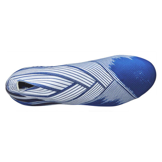 adidas Nemeziz 19+ Football Boots White / Blue US Mens 10.5 / Womens 11.5, White / Blue, rebel_hi-res