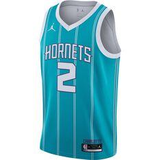 Jordan Charlotte Hornets LaMelo Ball 2021/22 Mens Icon Jersey Blue S, Blue, rebel_hi-res