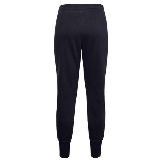 Under Armour Womens Rival Fleece Metallic Pants, Black, rebel_hi-res