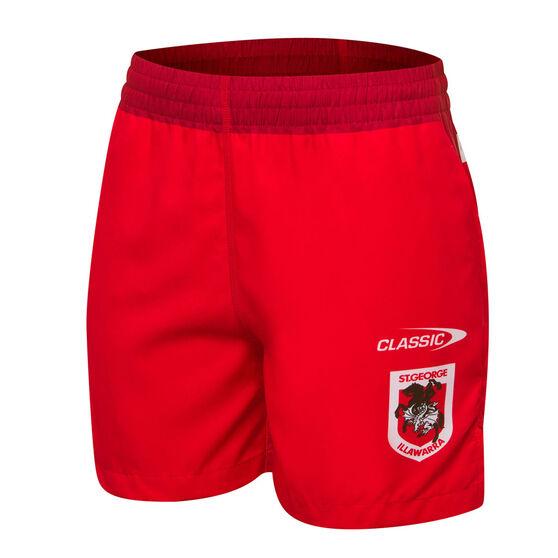 St George Illawarra Dragons 2021 Kids Training Shorts, , rebel_hi-res