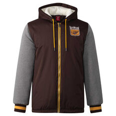 Hawthorn Hawks Mens Sideline Jacket Brown S, Brown, rebel_hi-res