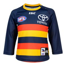 Adelaide Crows 2020 Infants Home Guernsey Navy 1, Navy, rebel_hi-res