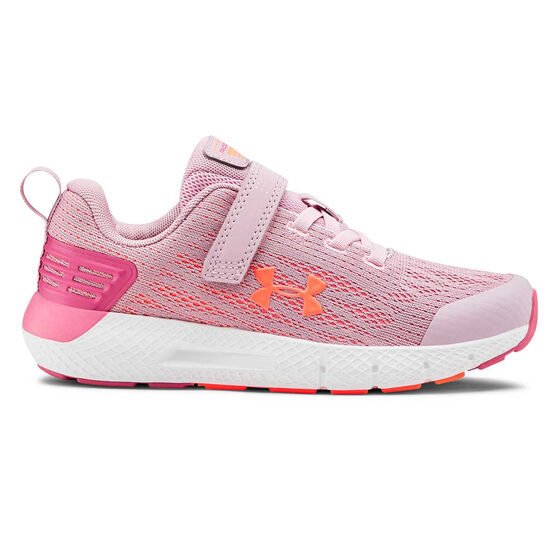 Under Armour Charged Rogue Kids Running Shoes, Pink, rebel_hi-res