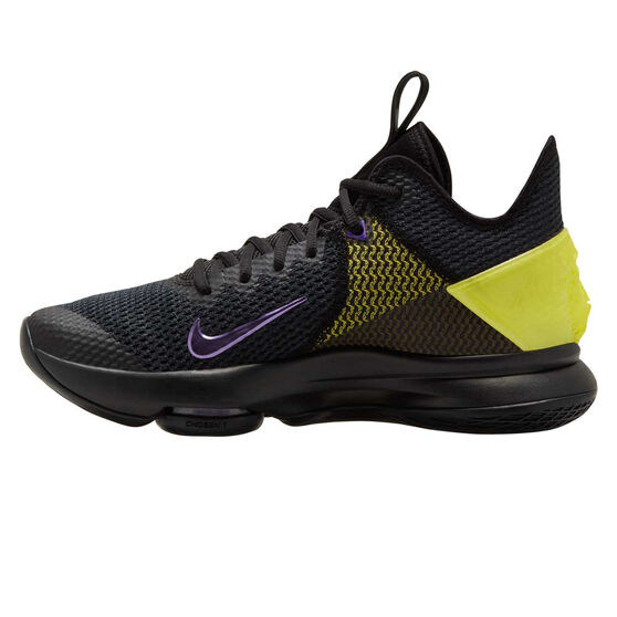 Nike LeBron Witness IV Mens Basketball Shoes, Black / Yellow, rebel_hi-res