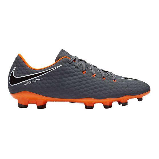 Nike Hypervenom Phantom III Academy Mens Football Boots Grey   Orange US 7  Adult 6f7abbd51