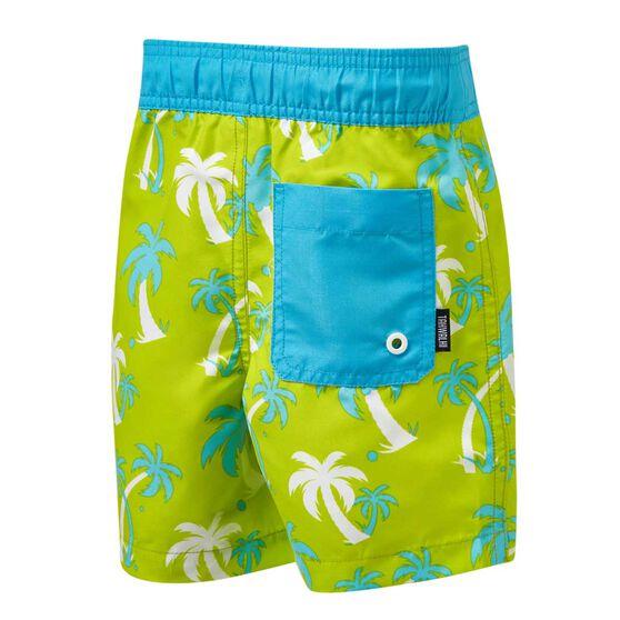 Tahwalhi Toddler Boys Palms Board Shorts, Green / White, rebel_hi-res