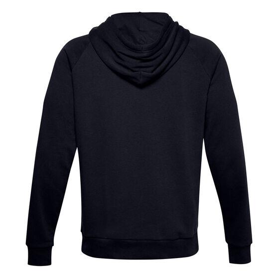 Under Armour Mens Volume Fleece Rival Cotton Hoodie, Black, rebel_hi-res