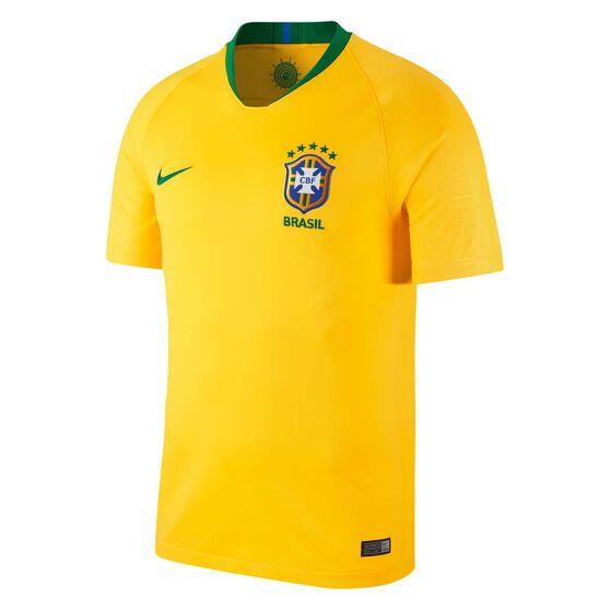 Brazil 2018 Mens Home Football Jersey, Yellow / Green, rebel_hi-res