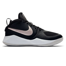 Nike Team Hustle D 9 Kids Basketball Shoes Black / White US 4, , rebel_hi-res