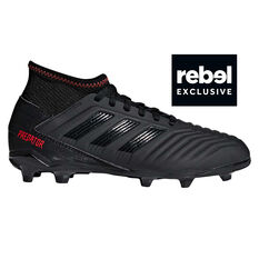 more photos 980db fe732 adidas Predator 19.3 Kids Football Boots Black   Red US 11, Black   Red, ...