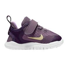 Nike Free RN 2018 Kids Running Shoes Purple US 2, Purple, rebel_hi-res