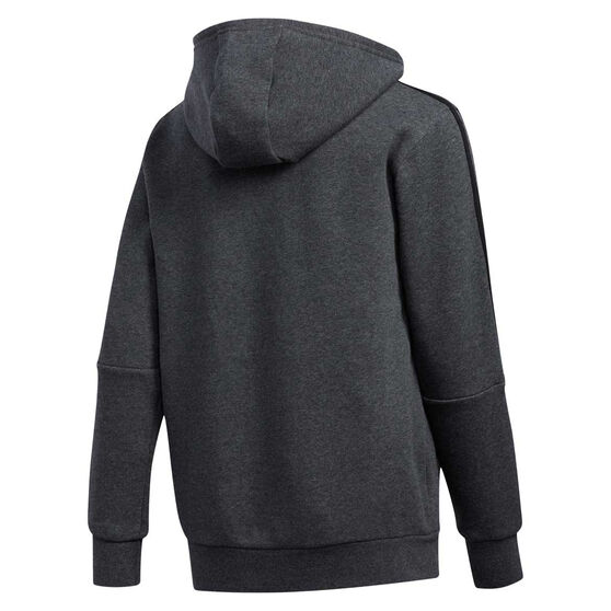 adidas Boys 3 Stripes Hoodie, Grey, rebel_hi-res