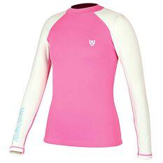 Tahwalhi Junior Superstretch Wetsuit Top Pink / Aqua US 6, Pink / Aqua, rebel_hi-res