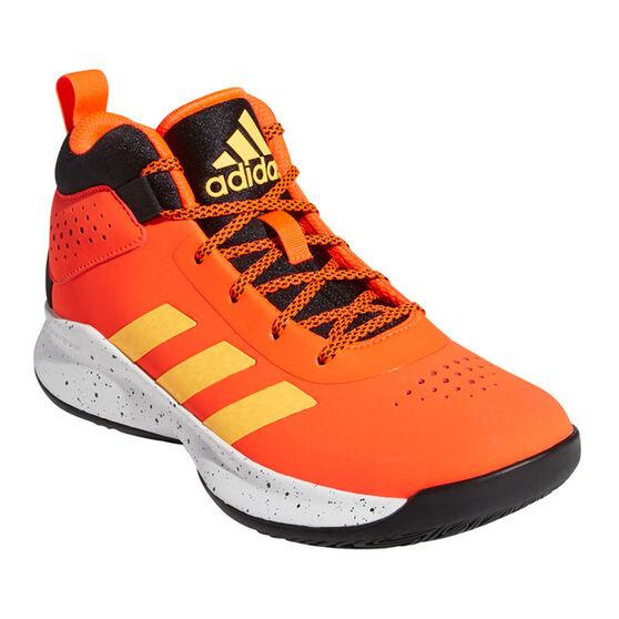 adidas Cross Em Up 5 Wide Kids Basketball Shoes, Orange, rebel_hi-res